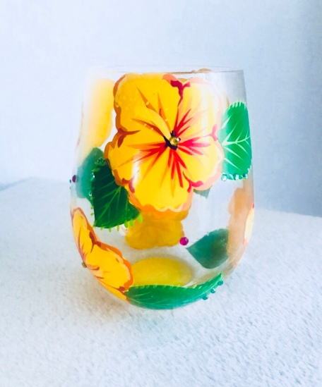 Hibiscus Glass