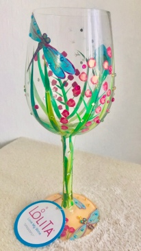 Dragon Fly Wine Glass